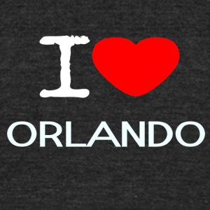 I LOVE ORLANDO - Unisex Tri-Blend T-Shirt by American Apparel