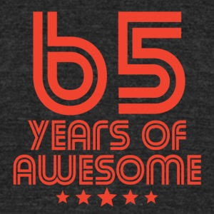 65 Years Of Awesome 65th Birthday - Unisex Tri-Blend T-Shirt by American Apparel