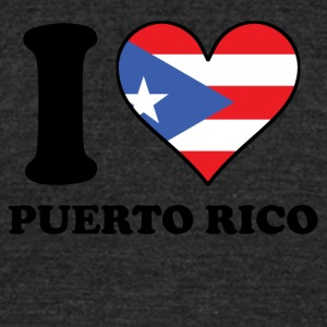 I Love Puerto Rico Puerto Rican Flag Heart - Unisex Tri-Blend T-Shirt by American Apparel