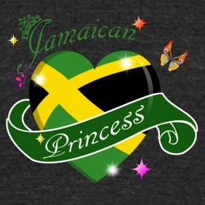 Jamaican Princess designs - Unisex Tri-Blend T-Shirt by American Apparel