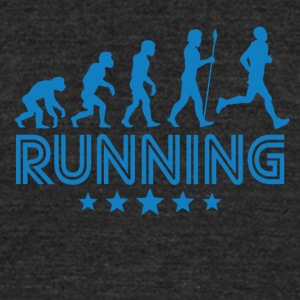 Retro Running Evolution - Unisex Tri-Blend T-Shirt by American Apparel