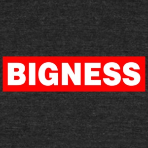 BIGNESS Red - Unisex Tri-Blend T-Shirt by American Apparel