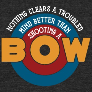 Shooting a bow clears a troubled mind - Unisex Tri-Blend T-Shirt by American Apparel