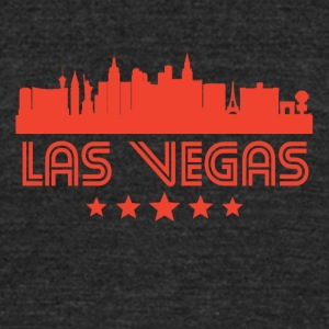 Retro Las Vegas Skyline - Unisex Tri-Blend T-Shirt by American Apparel