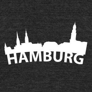 Arc Skyline Of Hamburg Germany - Unisex Tri-Blend T-Shirt by American Apparel