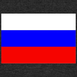 Russia Flag - Unisex Tri-Blend T-Shirt by American Apparel
