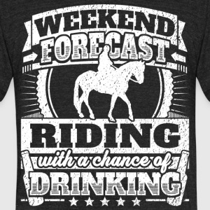 Weekend Forecast Riding Drinking Tee - Unisex Tri-Blend T-Shirt by American Apparel