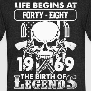 1969 the birth of Legends shirt - Unisex Tri-Blend T-Shirt by American Apparel