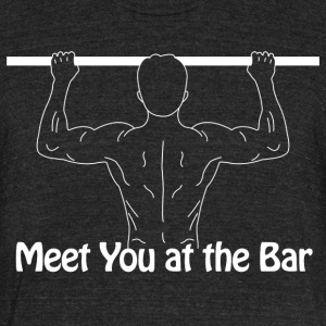 Meet you at the bar - Unisex Tri-Blend T-Shirt by American Apparel
