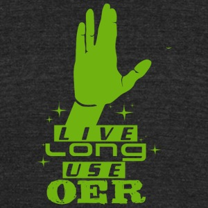 Live Long Use OER (Green) - Unisex Tri-Blend T-Shirt by American Apparel
