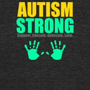 Autism Strong - Unisex Tri-Blend T-Shirt by American Apparel