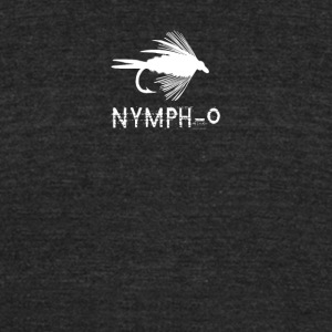 Nymph o funny fly fishing lure - Unisex Tri-Blend T-Shirt by American Apparel