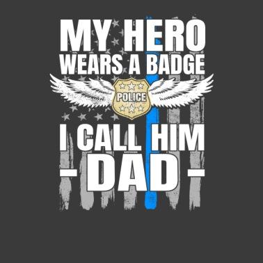 Police Officer Youth Fleece Crewneck Sweater Tcombo Daddy is My Hero