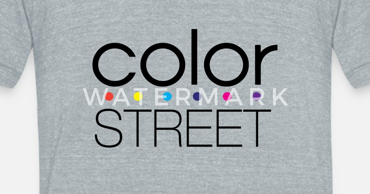 Color Street Block Color Logo Unisex Tri Blend T Shirt Spreadshirt