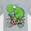 Funny Cycling Tour Frog - Unisex Tri-Blend T-Shirt