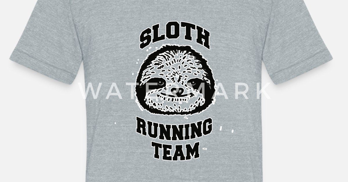 fbbccceb7 Sloth Running Team Monochromatic T-shirt for Gift Unisex Tri-Blend T-Shirt  | Spreadshirt