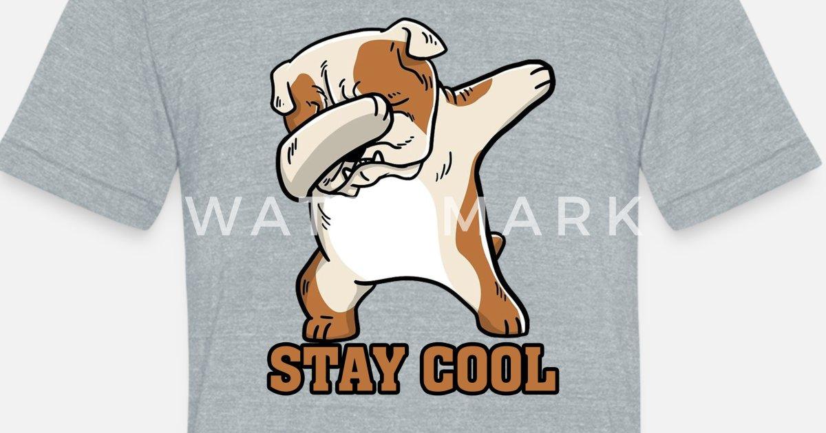 a17f5fb6 Funny English Bulldog Dabbing Unisex Tri-Blend T-Shirt   Spreadshirt