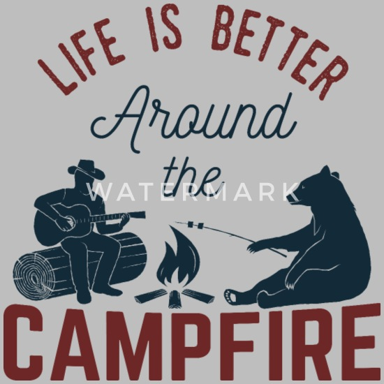 d4418b8009 Life Is Around The Campfire - Camping Unisex Tri-Blend T-Shirt ...
