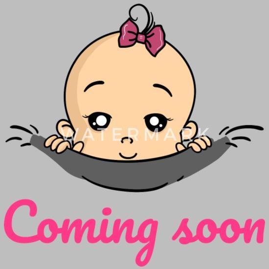 78e688499 Coming Soon Baby Girl Pregnancy Pregnant Birth Unisex Tri-Blend T ...