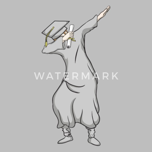 c1a5fa8f332 Graduation Dabbing Graduate in Cap and Gown - Unisex Tri-Blend T-Shirt.  Front. Back. Design