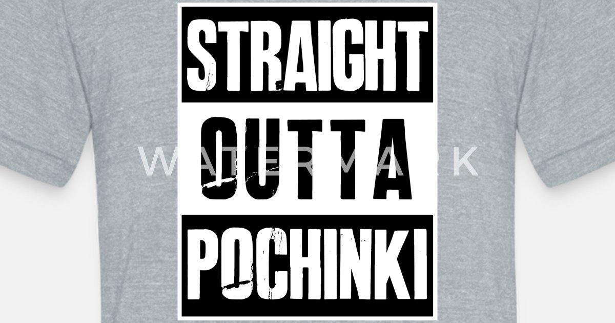 77cb8aa6e PUBG - Straight outta Pochinki - Battleground Unisex Tri-Blend T-Shirt |  Spreadshirt
