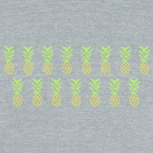 Line pineapple - Unisex Tri-Blend T-Shirt by American Apparel