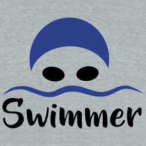 Swimmer - Unisex Tri-Blend T-Shirt by American Apparel