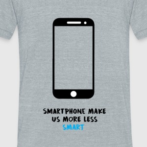 Smartphone VS Smart - Unisex Tri-Blend T-Shirt by American Apparel