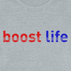 Red/Blue Boost Life Short Sleeve T-Shirt - Unisex Tri-Blend T-Shirt by American Apparel