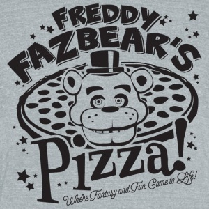 Freddy Fazbear Pizza - Unisex Tri-Blend T-Shirt by American Apparel