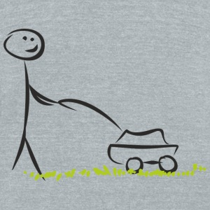 Lawn mover - Unisex Tri-Blend T-Shirt by American Apparel
