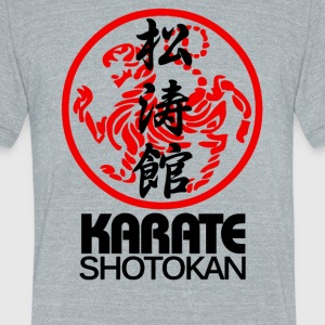 SHOTOKAN KARATE MARTIAL ARTS SYMBOL - Unisex Tri-Blend T-Shirt by American Apparel