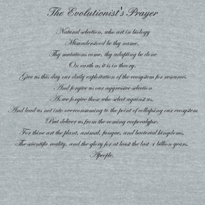 The Evolutionist's Prayer - Unisex Tri-Blend T-Shirt by American Apparel