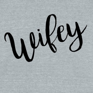 Women's Wifey Shirt Short Sleeve T-shirt - Unisex Tri-Blend T-Shirt by American Apparel