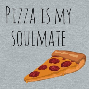 Pizza is my Soulmate - Unisex Tri-Blend T-Shirt by American Apparel