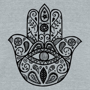 The hamsa hand - Unisex Tri-Blend T-Shirt by American Apparel