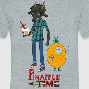 Pinapple Time Inside Joke T-Shirt - Unisex Tri-Blend T-Shirt by American Apparel