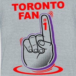 Toronto fan - toronto fan - Unisex Tri-Blend T-Shirt by American Apparel