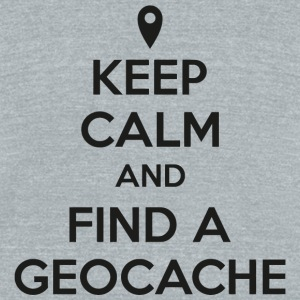 Geocache - Keep calm and find a geocache - Unisex Tri-Blend T-Shirt by American Apparel