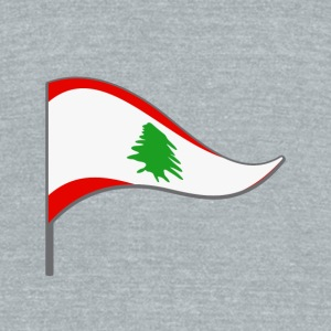 Lebanon Beirut Arabic Flag Banner Flags Ensigns - Unisex Tri-Blend T-Shirt by American Apparel