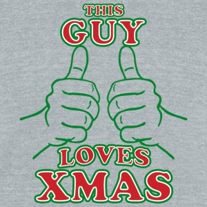 This Guy Loves Xmas T Shirt - Unisex Tri-Blend T-Shirt by American Apparel