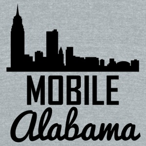 Mobile Alabama Skyline - Unisex Tri-Blend T-Shirt by American Apparel