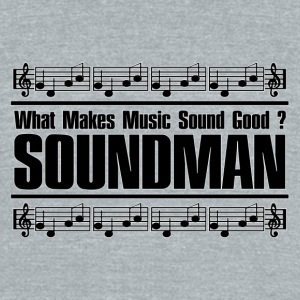 good soundman black - Unisex Tri-Blend T-Shirt by American Apparel