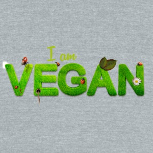 I am Vegan - Unisex Tri-Blend T-Shirt by American Apparel