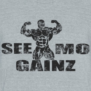 see mo gainz - Unisex Tri-Blend T-Shirt by American Apparel