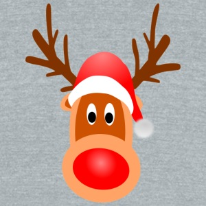Funny Reindeer - Unisex Tri-Blend T-Shirt by American Apparel