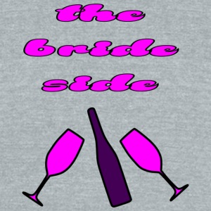 the bride side - Unisex Tri-Blend T-Shirt by American Apparel