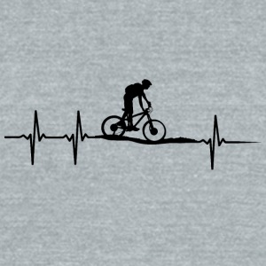 make a heartbeat design for Mountain bike - Unisex Tri-Blend T-Shirt by American Apparel