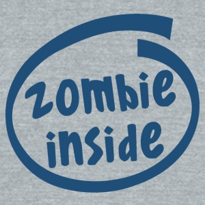 zombie inside (1840C) - Unisex Tri-Blend T-Shirt by American Apparel