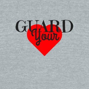 GUARD YOUR HEART - Unisex Tri-Blend T-Shirt by American Apparel